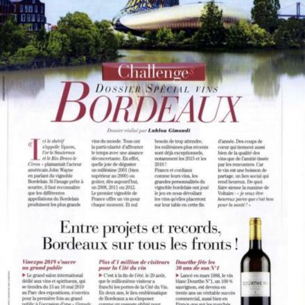 """Dossier spécial """"Vins de Bordeaux""""<br /> Novembre 2018"""