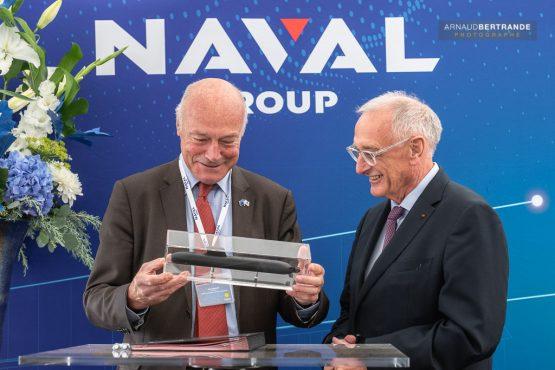 Hervé Guillou et Alain Rousset-Naval-Group